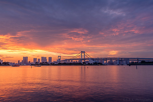 Rainbow Bridge Sunset, Tokyo | by fbkphotography