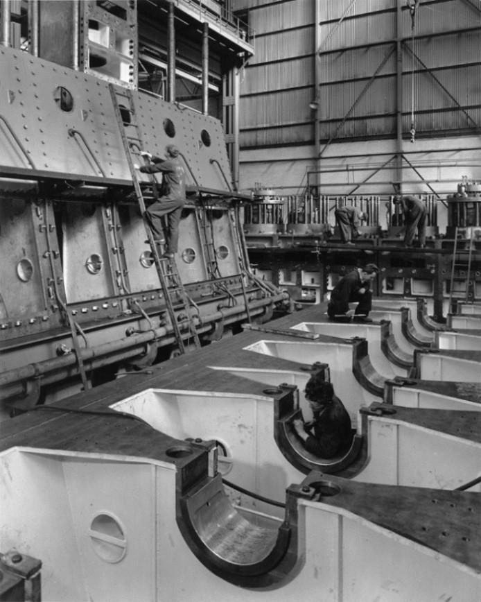 The Engine Room Design: Work In Progress On Two Clark-Sulzer Engines