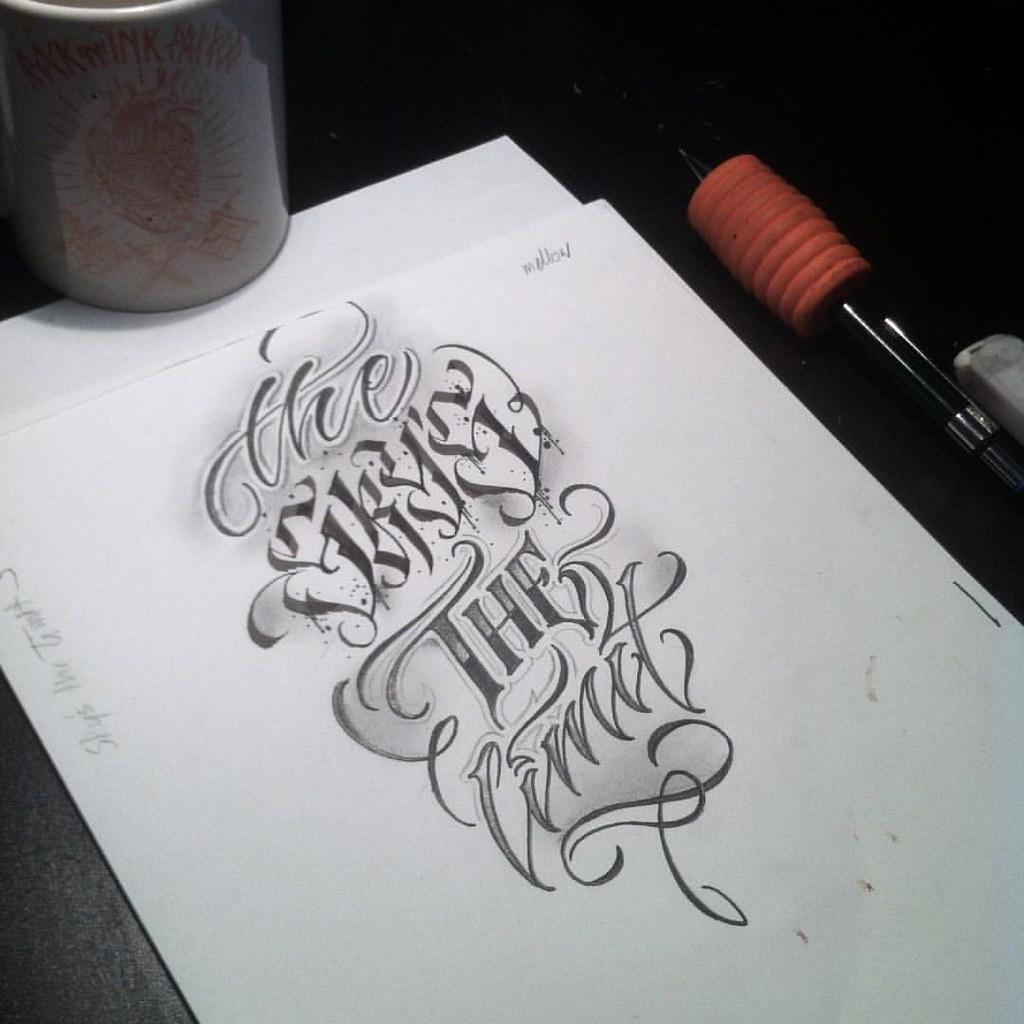 The Skys The Limit Wolny Wzór Wlk Tattoo Calligrap Flickr