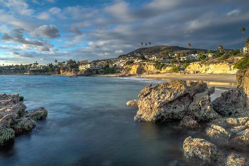 ocean california longexposure trees sky seascape tree beach clouds geotagged sand nikon rocks unitedstates palmtrees pacificocean palmtree hdr lagunabeach nikond5300