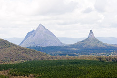 Mt Beerwah and Mt Coonowrin