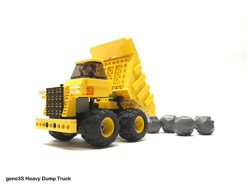 Heavy Dump Truck Dumping
