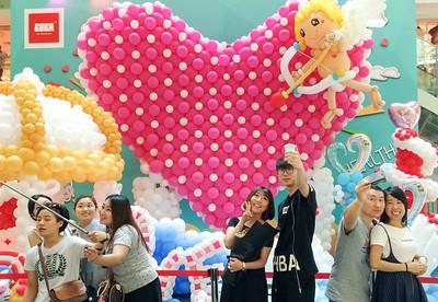 At qixi, the Chinese Valentine Day