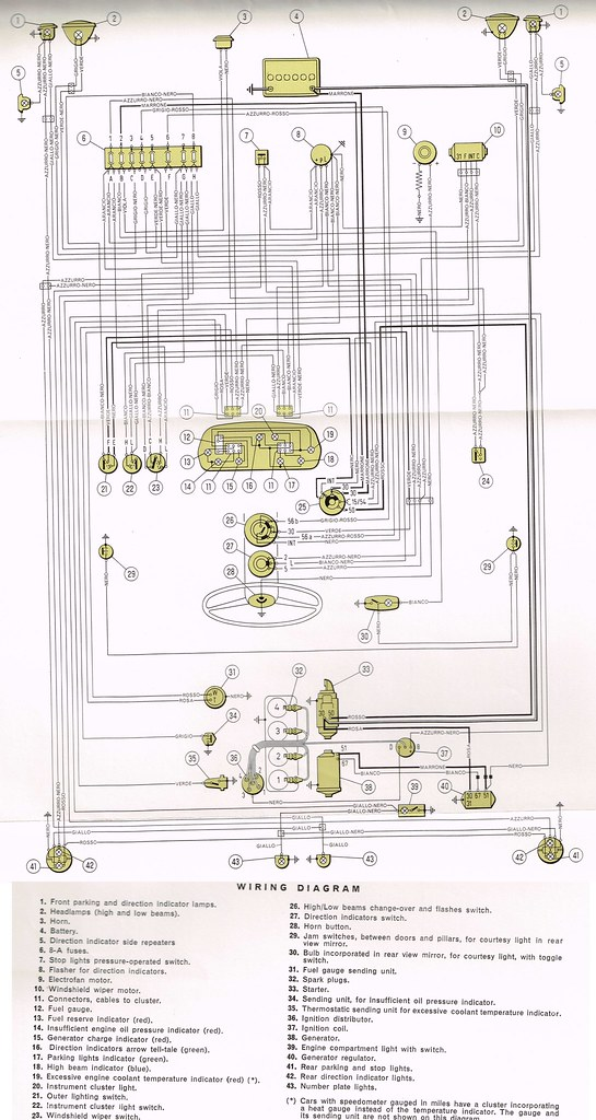 wiring diagram fiat 850 special | by dellie_be