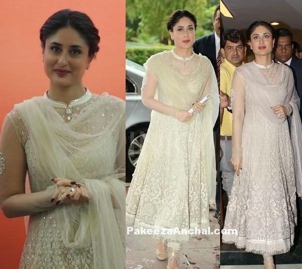 50e303b718db9 ... Kareena Kapoor in Elegant White Anarkali Frock and Churidar Pyjama by  Tarun Tahiliani | by shaf_prince