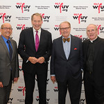 Mon, 02/11/2015 - 8:26pm - From left, WFUV General Manager Chuck Singleton, Charlie Rose, Charles Osgood, Fordham President Fr. Joseph McShane, S.J. November 2, 2015 in New York City. Photo by Chris Taggart.