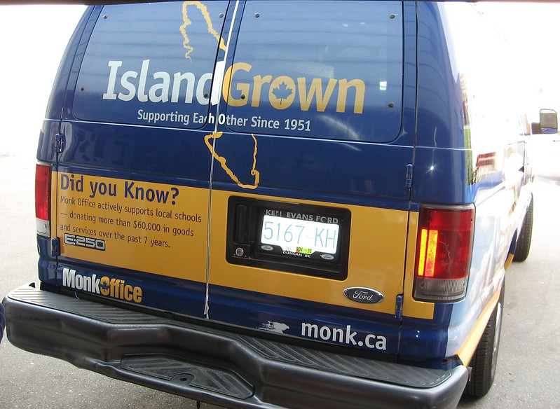 Monk van back vehicle graphics