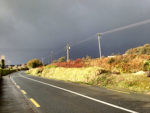 road ireland irish storm weather clouds landscape cork newmarket iphone5 telegraphtuesday 2015onephotoeachday
