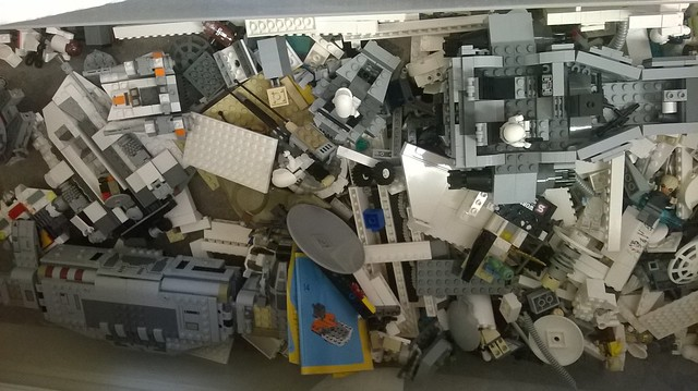 Box of Lego, think it's Star Wars