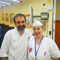 """With Master bread maker and book author of """"Creative breads"""" Daniel Jordà"""