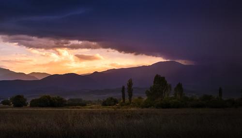sunset sunlight storm nature clouds landscape macedonia cloudscape
