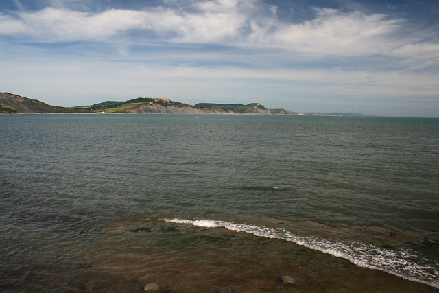 View back to Golden Cap, Seatown and Eype
