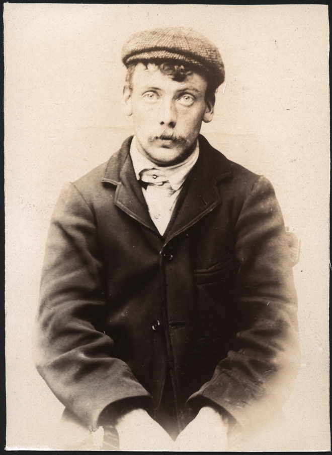 James Crone, labourer, arrested for stealing clothes
