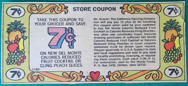 Del Monte Cling Peaches Coupon — DOES NOT EXPIRE!