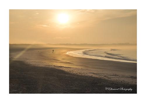 summer sun mist beach fog sunrise waves fuji foggy newport xt1