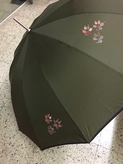 paraguas pisadas