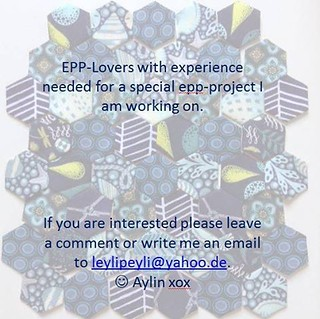 Hi there, if you are looking for an Epp-challenge please leave a comment 😜👍💥 #epp #lieseln #englishpaperpiecing