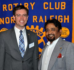 Visiting Rotarian from the Rotary Club of Pune Katraj, India. His club is in District 3131.