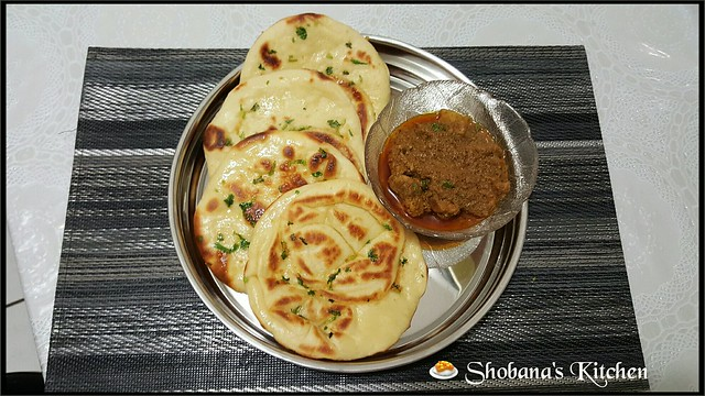Srilankan Healthy Breakfast....🍜(Garlic naan with mutton curry)