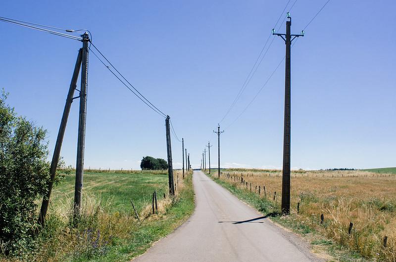 Dans le Cézallier, les routes sont désertes