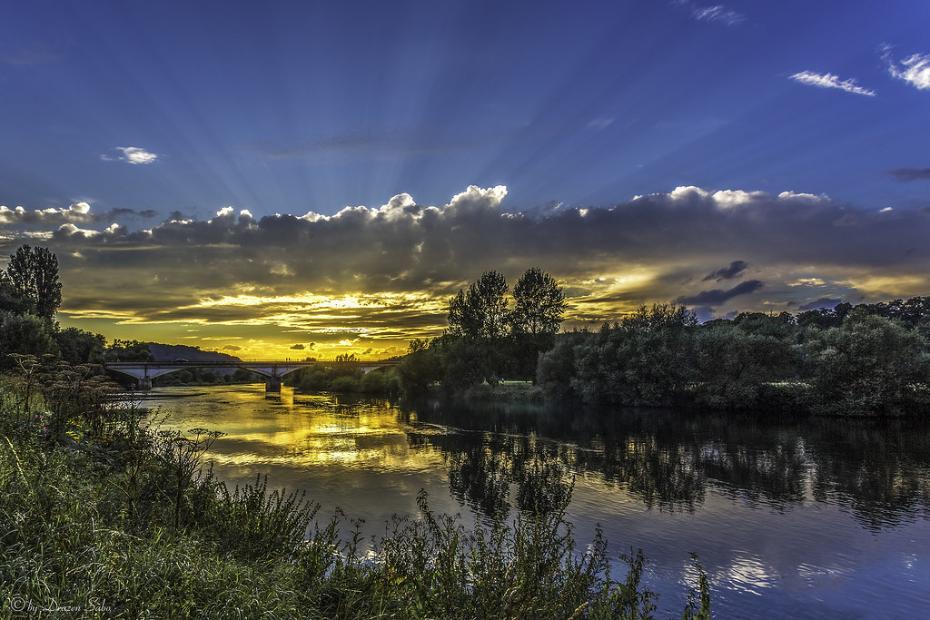 sunset kemnader sea
