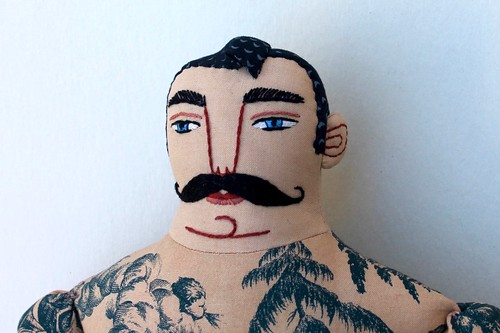 tattoos and mustache | by Mimi K