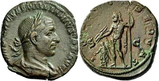 A Roman Bronze Sestertius of Aemilian (253 C.E.)