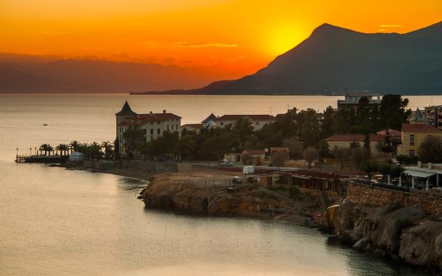 Loutra Edipsou around sunset