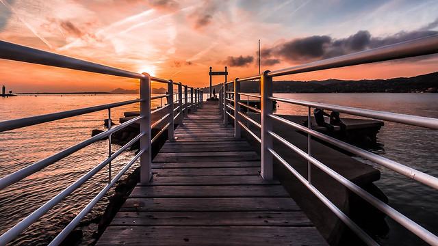 Sunset on Sea, Coucher de Soleil sur la mer