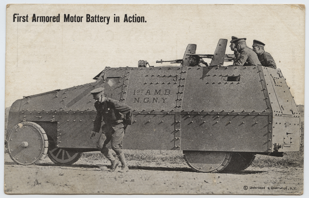 First Armored Motor Battery in Action