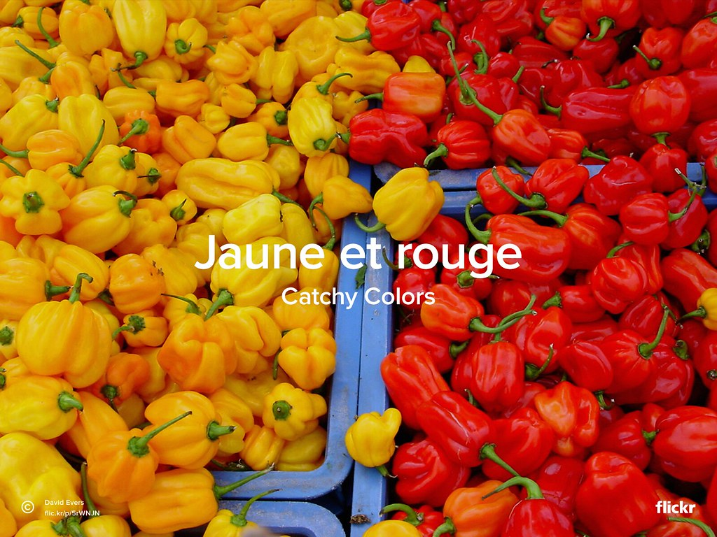 Catchy Colors : Jaune et Rouge