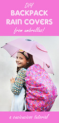DIY backpack rain covers from umbrellas