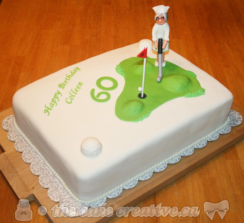 Golfing Nurse Birthday Cake
