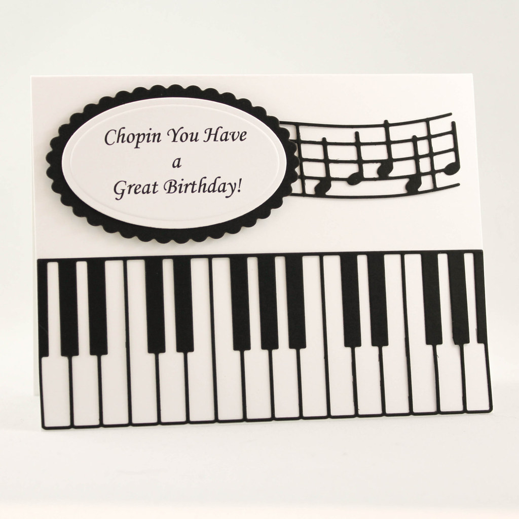 Incredible Handmade Birthday Card Happy Birthday Card Music Teach Flickr Personalised Birthday Cards Cominlily Jamesorg