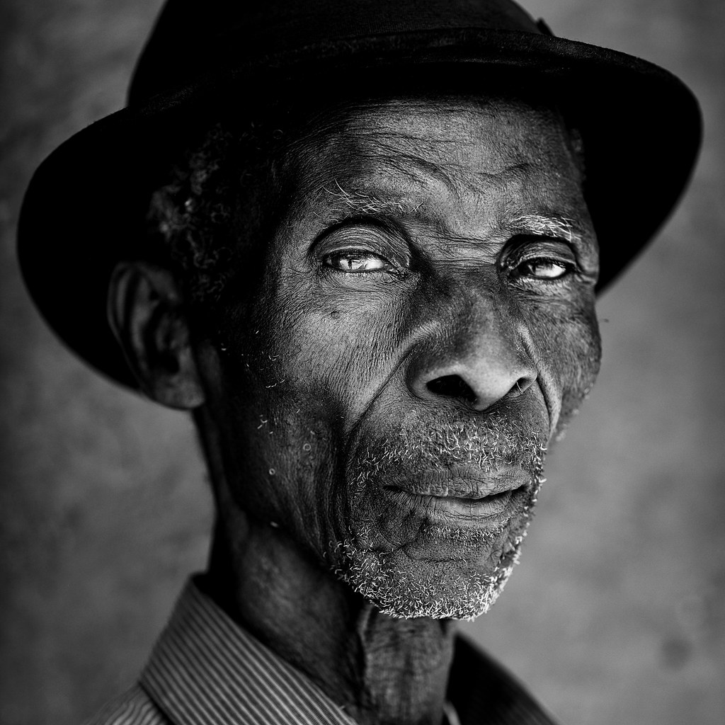 Portrait of an old man by dietmar temps