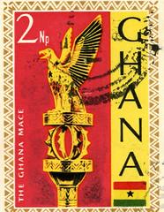 ghana stamp the ghana mace 2 new pesewas
