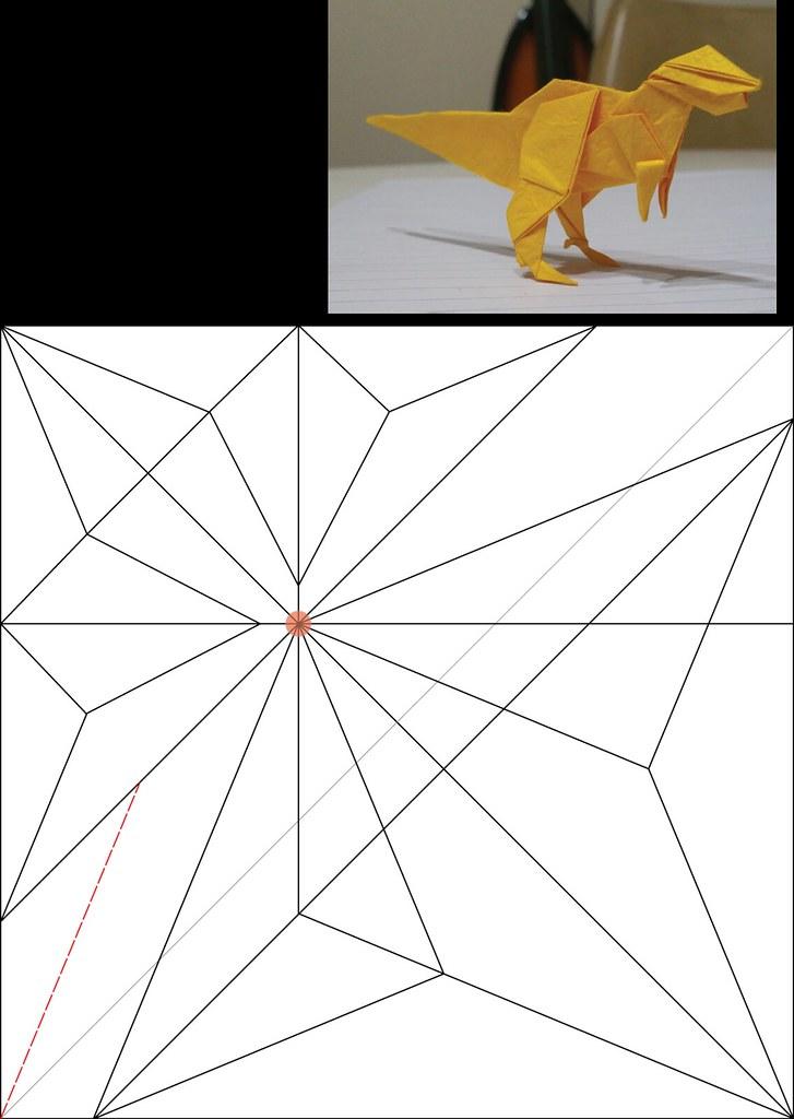 Origami T-Rex Dinosaur (John Montroll) Tutorial by: German R ... | 1024x727