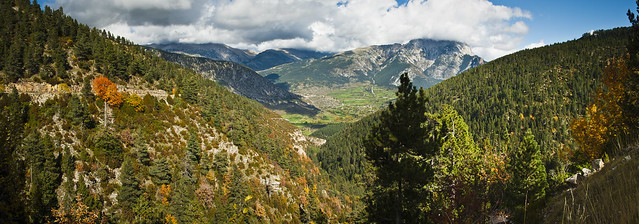 Panoramica de la vall tardorejant