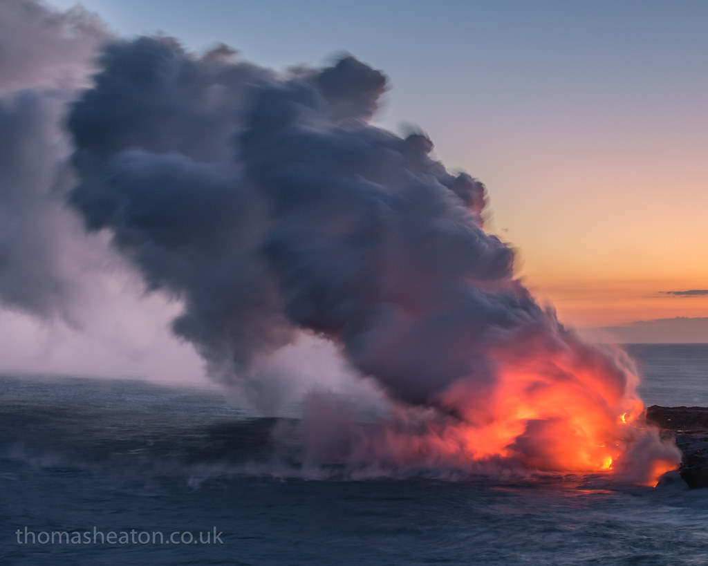 Ocean Lava Entry | A 2nd image from my trip to the Kilauea v… | Flickr