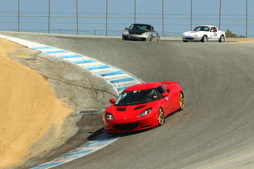 Evora S through the corkscrew