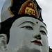 006 Buddha in the headress of the Goddess Guan Yin, Lim Fah San Monastery, Kuching,  Monastery, Kuching, Sarawak