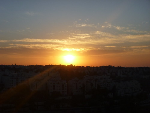 sunset clouds sunrise israel university jerusalem givatram shahrai ramatbethakerem