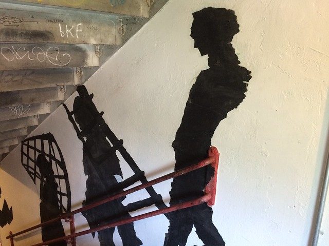 The Kentridge stairwell at PS1
