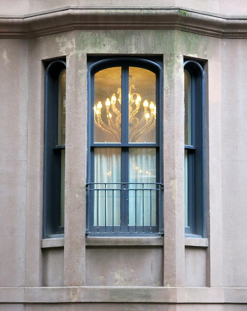 Leave a light in the window: West 9th Street, Greenwich Village, NYC