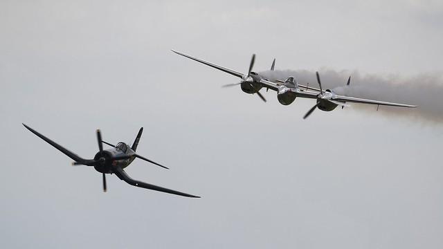 Flying Bull´s Warbirds (F4U-4 Corsair @ P-38L Lightning) @ LOAU