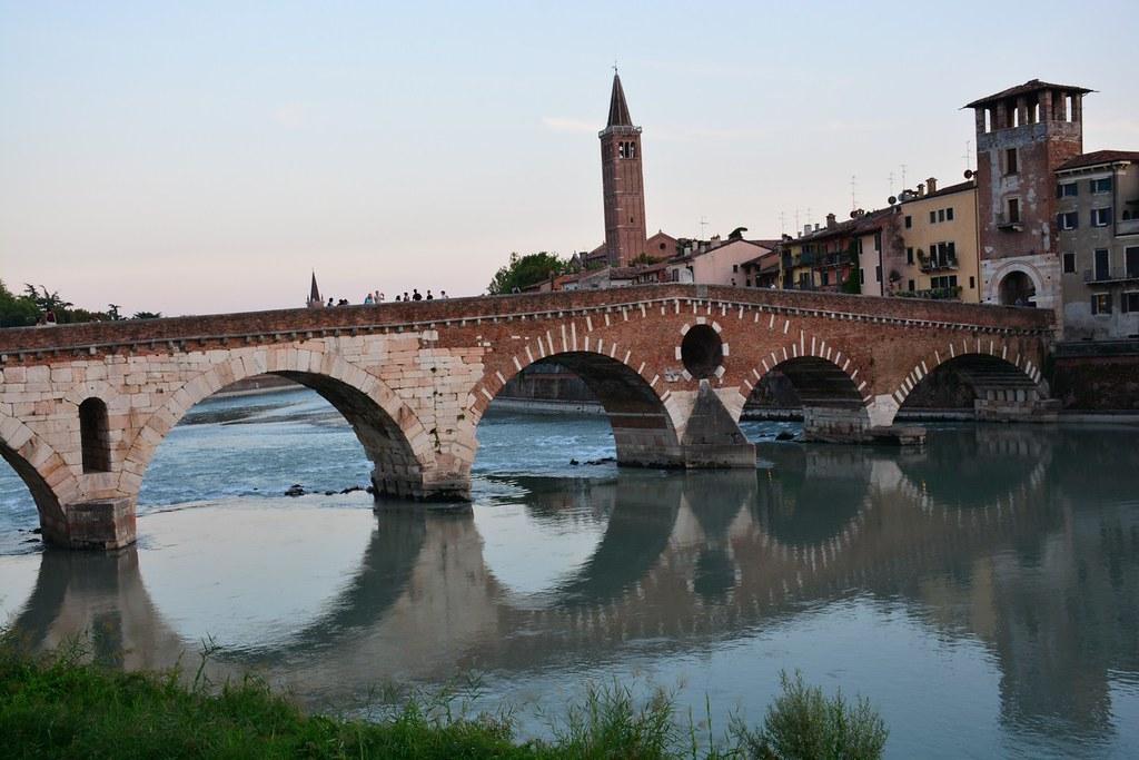 Ponte Pietra in Verona (Italy 2015)