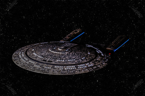 NCC-1701-D in a starfield | by The Manic Macrographer