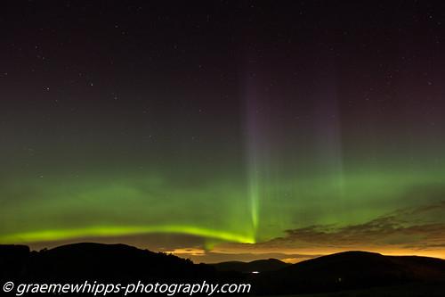 sky night scotland aurora borders northernlights scottishborders merrydancers blythbridge
