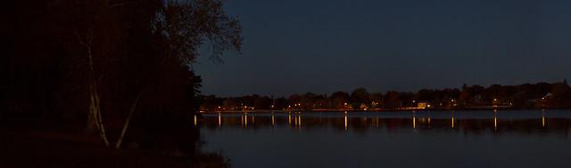 Lake Quannapowitt, night; Wakefield, MA (2015)