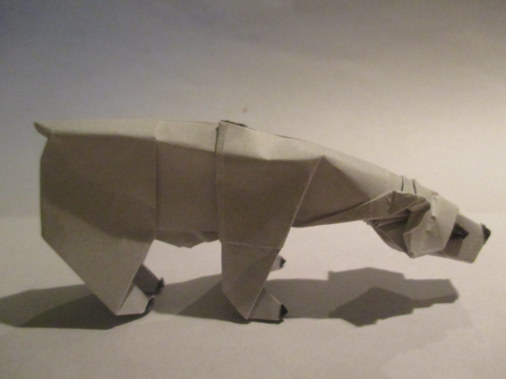 White bear, Polar bear Computer file, Origami Polar Bear, angle ...   768x1024